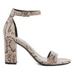 Worthington Beckwith Faux Snakeskin Sandals